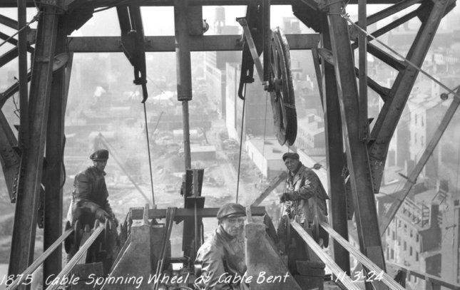 Ben Franklin Bridge construction 8