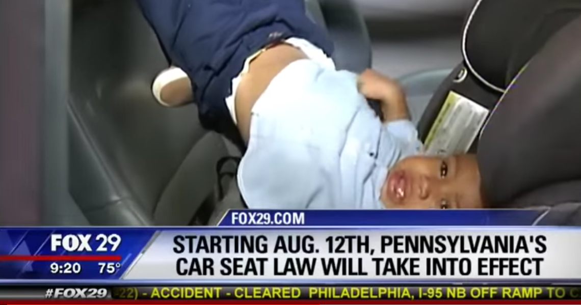 WATCH: Pennsylvania's New Car Seat Law Has Some Kicking