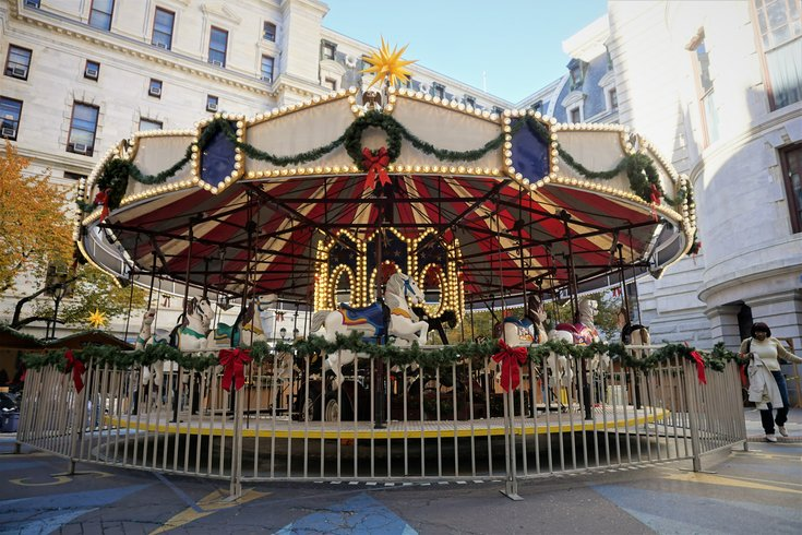 Christmas Village Carousel