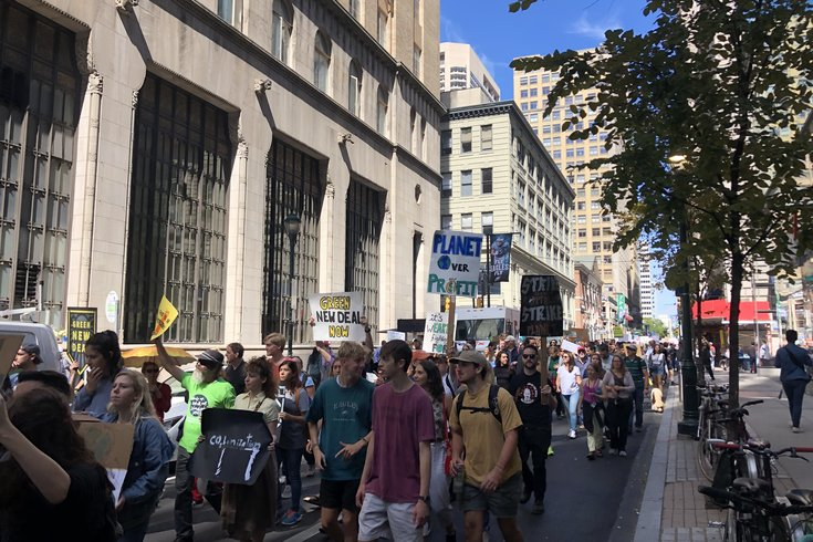 Climate change march philly