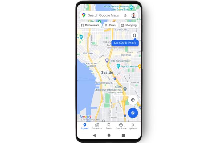 Google Maps COVID-19 layer 2