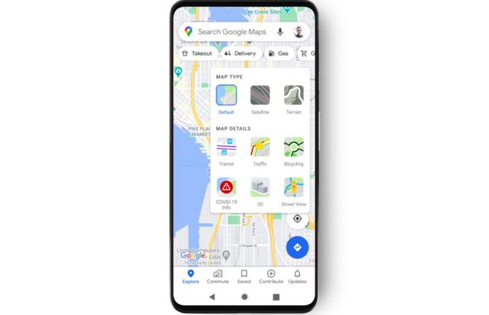 Google Maps COVID-19 layer 3