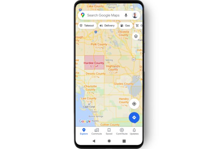 covid-19 layer google maps