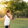 Women running in the morning light