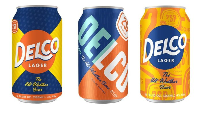 Delco Lager packaging
