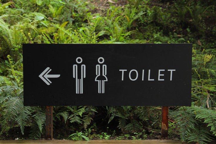 Public Restrooms Sign