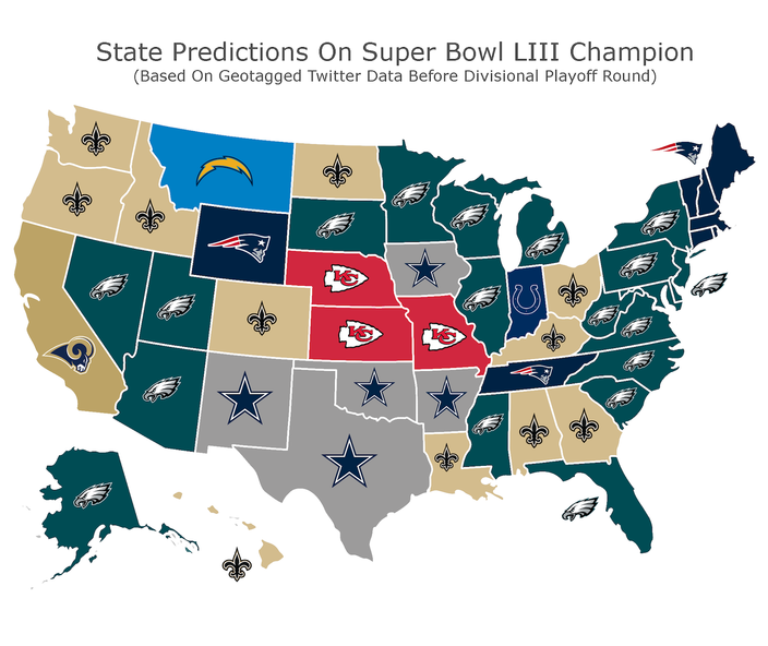 f490d2470a9fe6 Twitter map thinks the Eagles repeat as champs (and nearly become ...