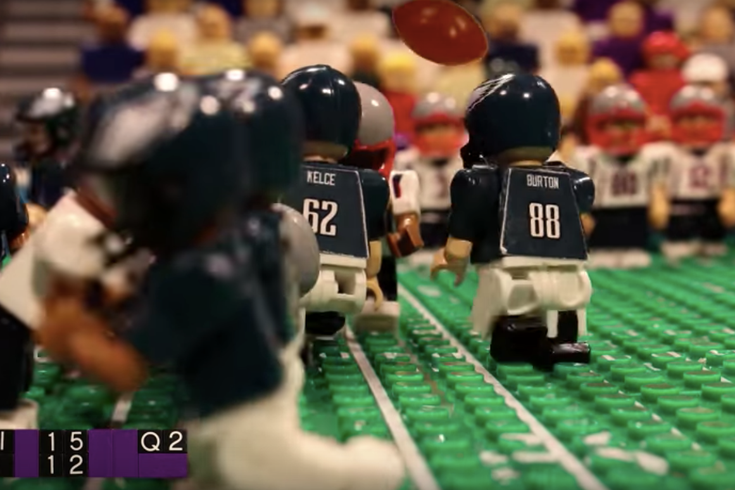 Eagles Super Bowl Legos thefourmonkeys