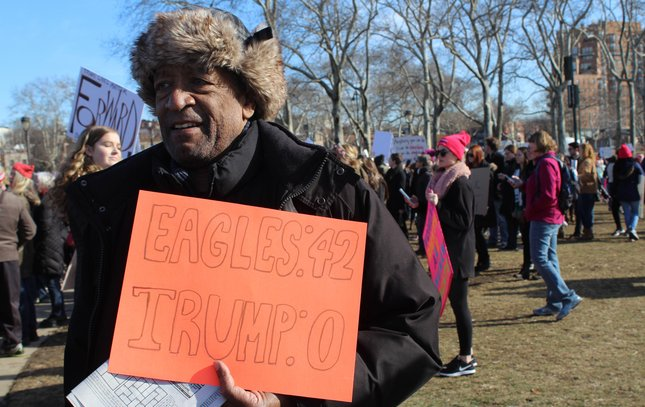 Philly women's march eagles 1