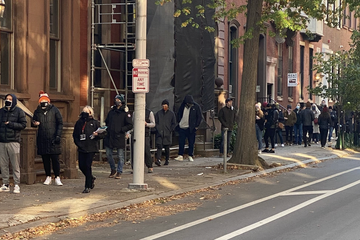 election day 2020 line