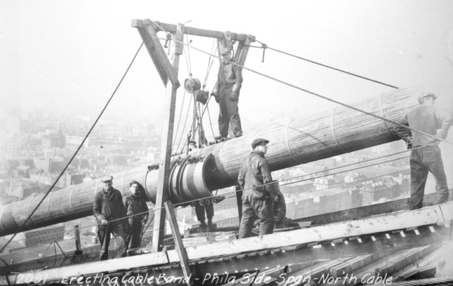 Ben Franklin Bridge construction 9