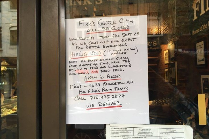Fink's Closed