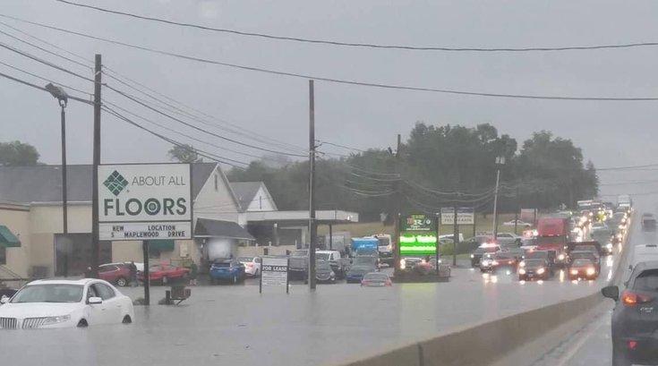 Pennsylvania flooding rain weather 7/11