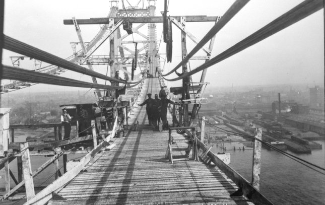 Ben Franklin Bridge construction 11