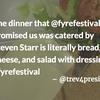 fyre festival food tweet