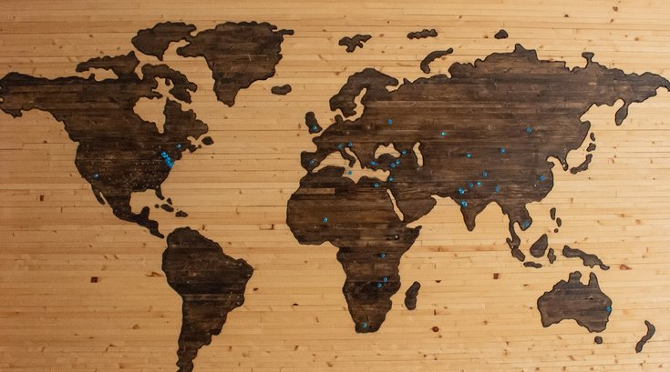 world map unsplash