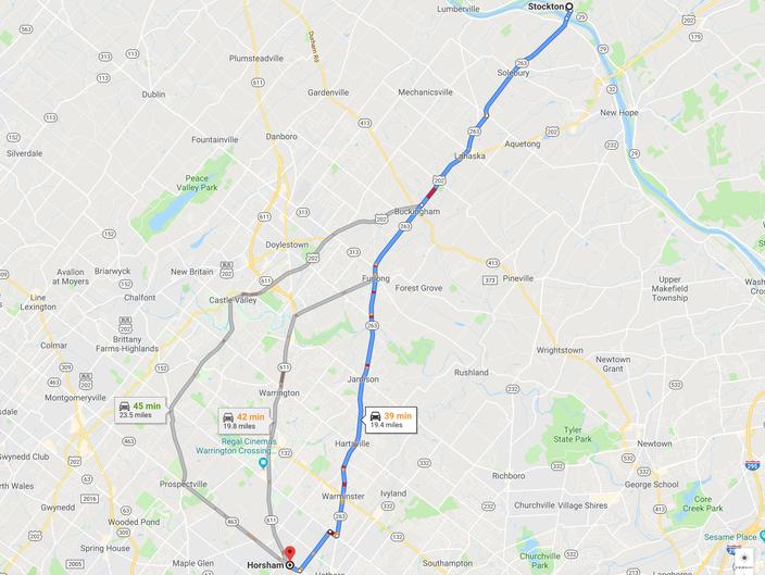 Stockton dog map