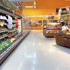 Grocery Store Aisle Blur
