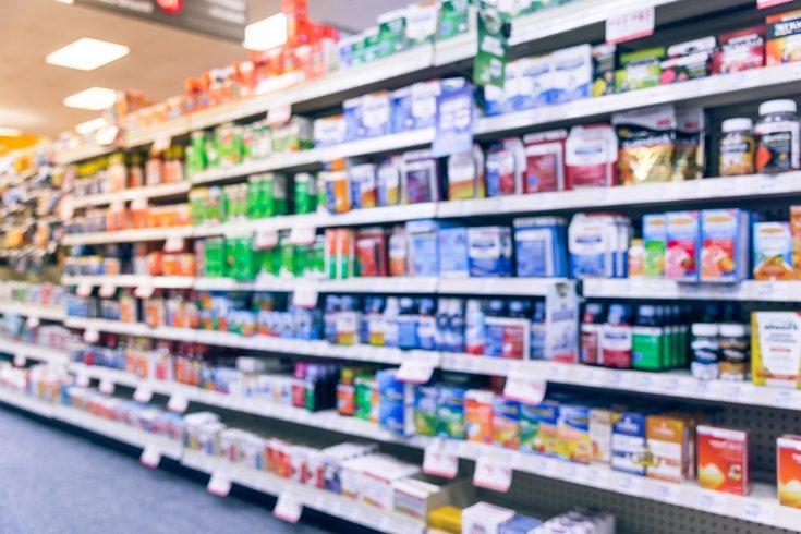 Over the counter medicine aisle