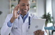 Purchased - doctor talking to patient via telemedicine