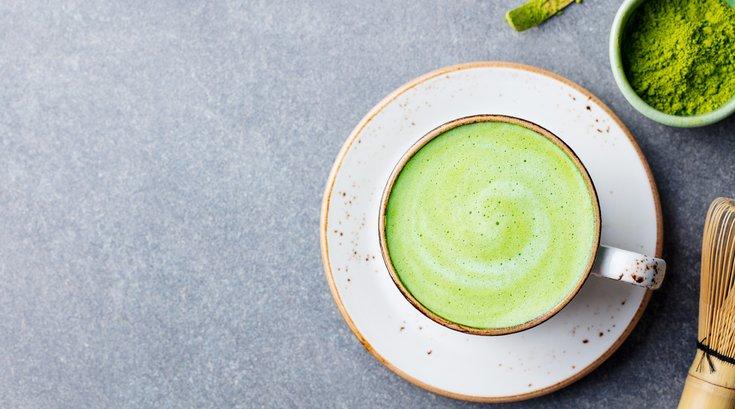 Matcha Green Tea on Counter