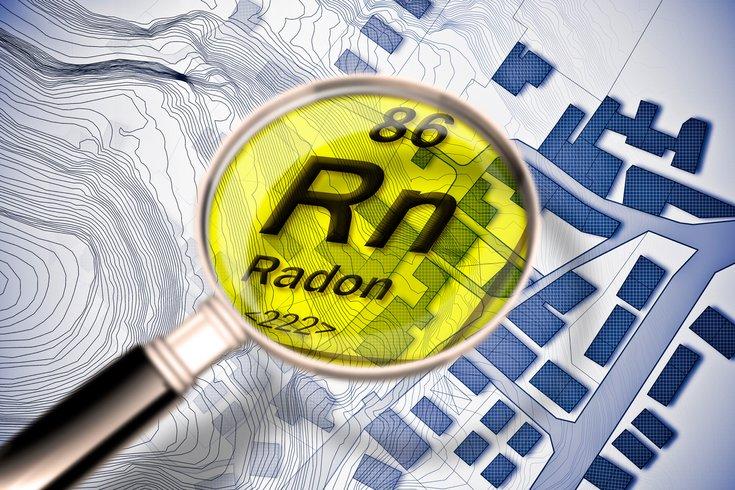 Radon imagery hazardous gas