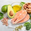 Salmon and avocado with nuts