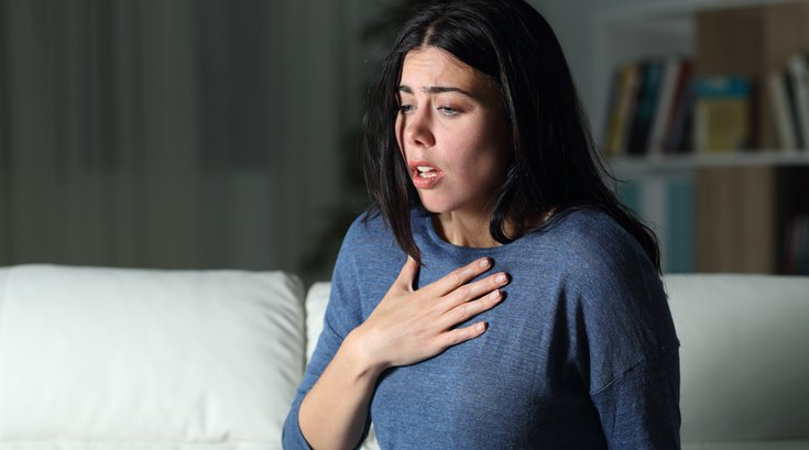 Woman having an anxiety attack