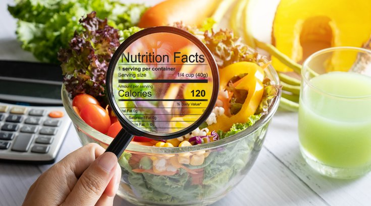 Purchased - Nutrition Labels Close up