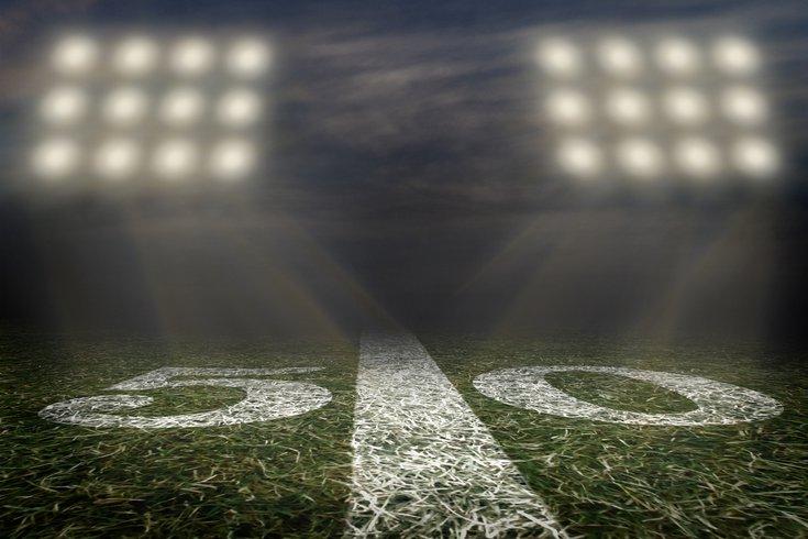 Purchased - American football field 50 yard line