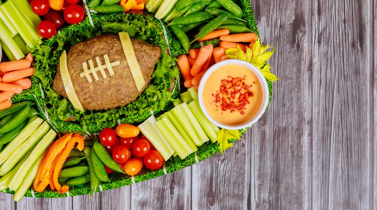 Healthy gameday snacks veggies