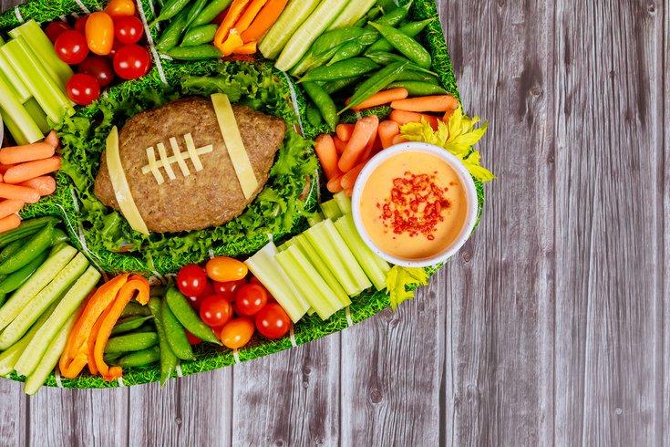 Healthy gameday snacks veggies
