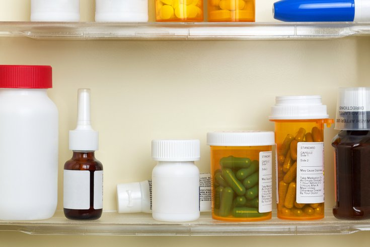 Purchased - Medications on the Shelves of a Medicine Cabinet