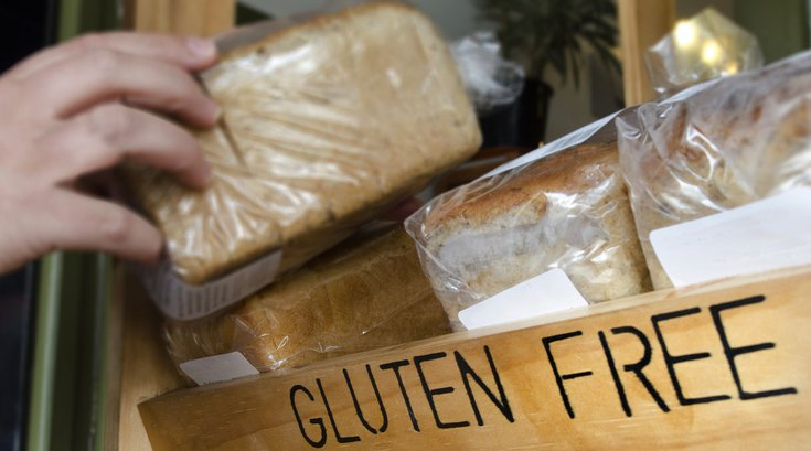 Gluten free bread at store