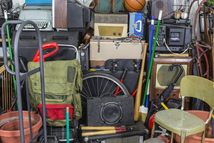 Clutter in a home