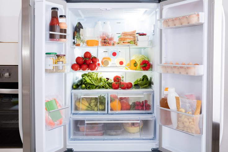 Food stored in the refrigerator