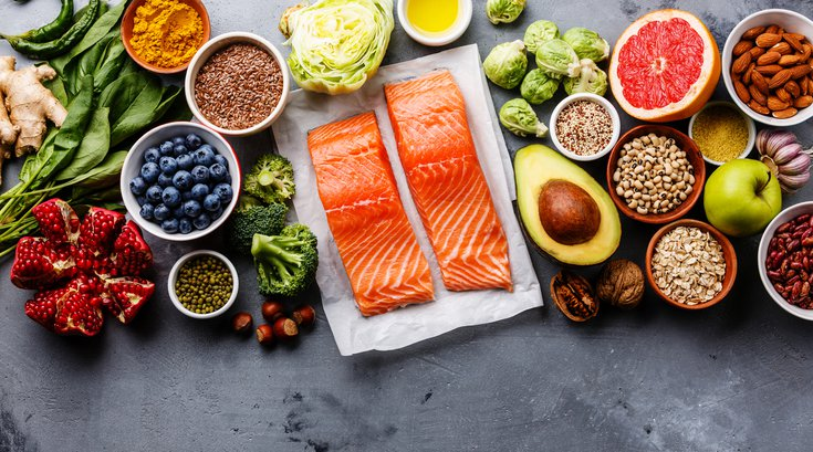 Healthy superfoods selection