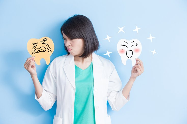 Dentist overviewing oral health habits