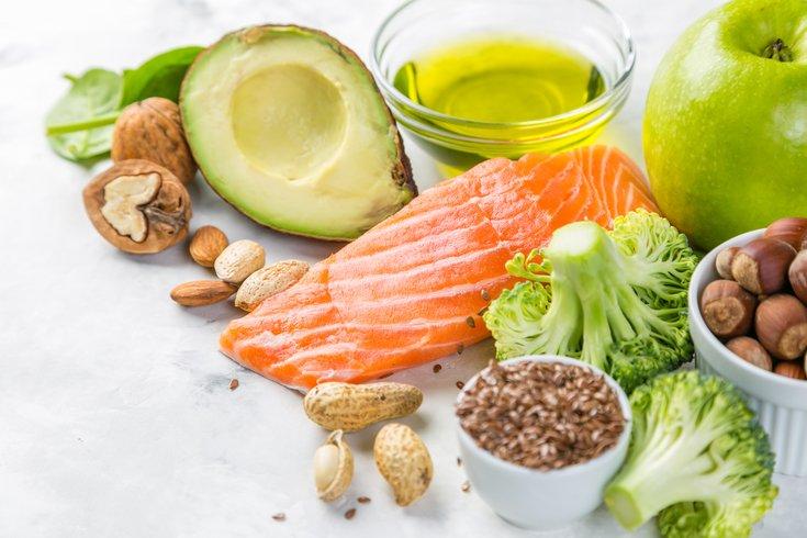 Assorted healthy foods