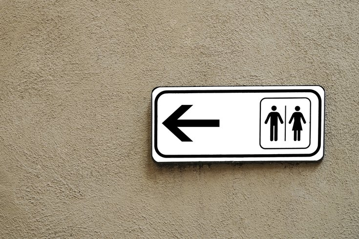 Purchased - Public Restroom Directional Sign