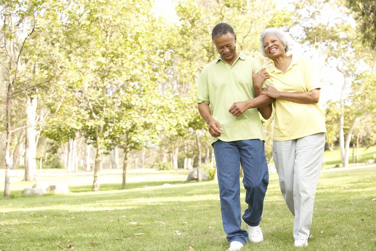 Limited - Senior Couple Walking In Park