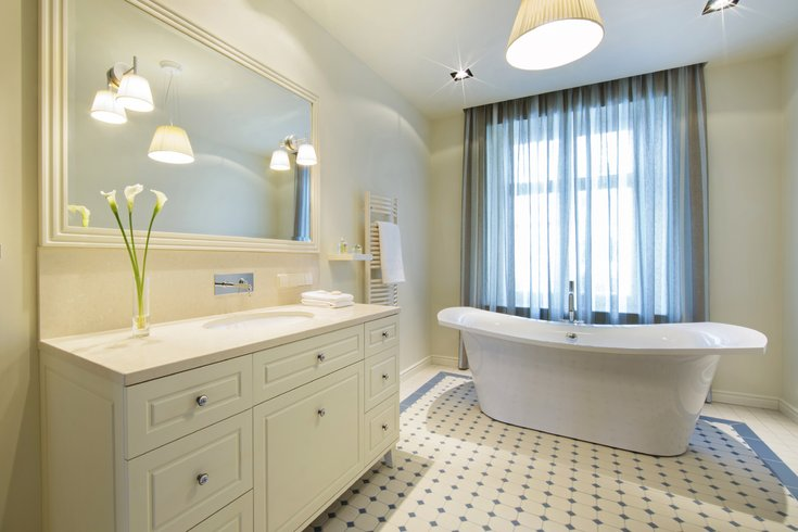 Bathroom with standalone tub