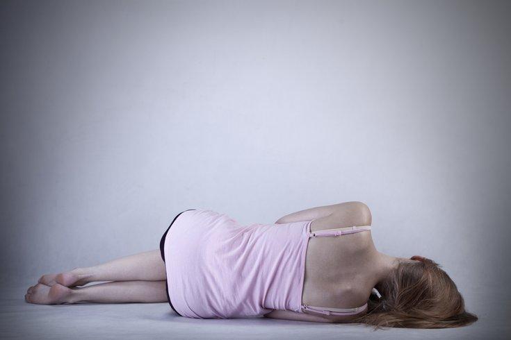 Skinny Woman on floor