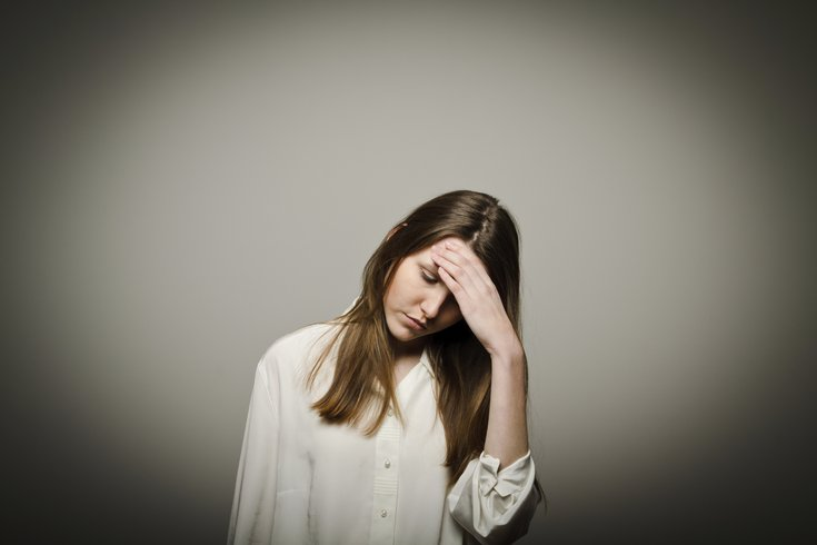 PTSD Anxious Woman