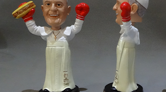 Pope Francis Bobblehead Side View