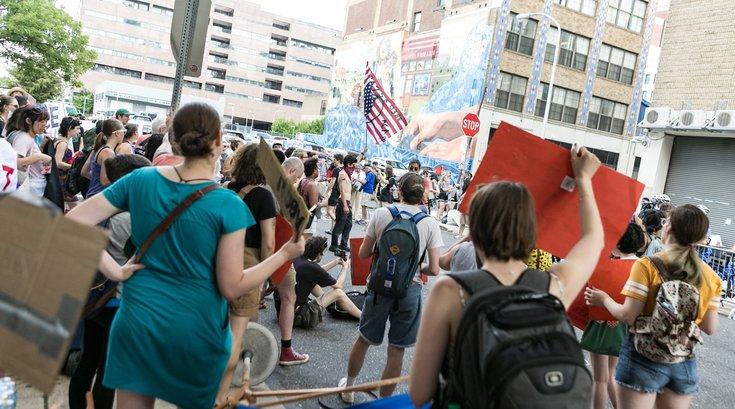 occupy ICE raid protest