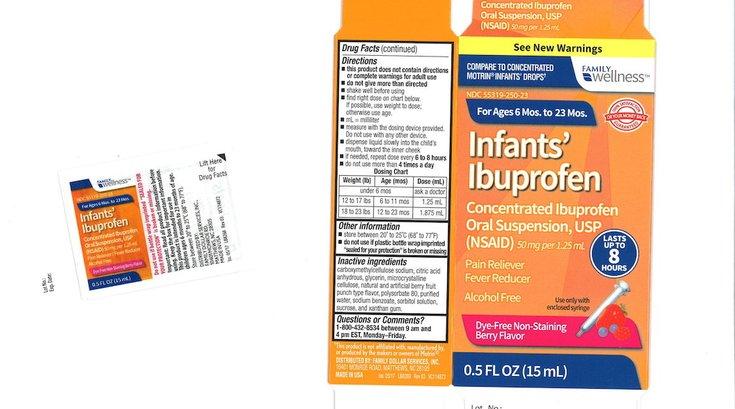 infant ibuprofen recall