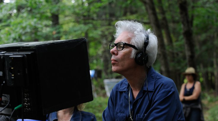 Jim Jarmusch on the set of The Dead Don't Die
