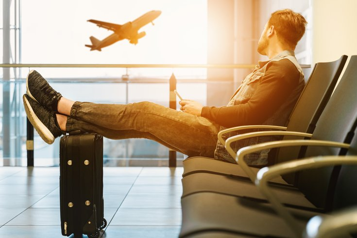 Person waiting in an airport