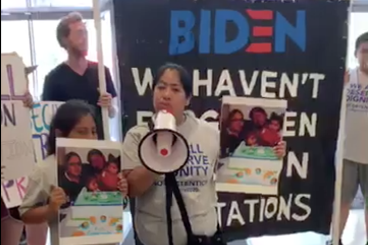 Joe Biden protest headquarters